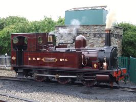 Isle of Man Railway: Caledonia at Port Erin by DaveOnTheRails