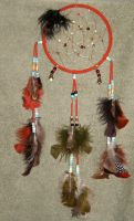 Traditional Red- DreamCatcher by cardnial-wolf