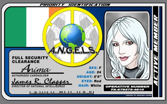 A.N.G.E.L.S. ID Card: Agent Anima by Branded-Curse