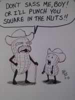 Peanut Cowboys by Ninjasmacks
