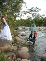 Zelda and Midna Cosplay by Brillita