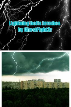 Lightning Bolt Brushes V1 by Andrei-Oprinca