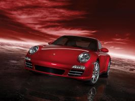 Carrera 4s red by puddlz