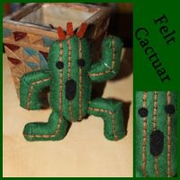 Felt: Cactuar from Final fantasy series by Engelina-c