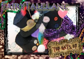 Mad Hatter Top Hats by LyndseySan