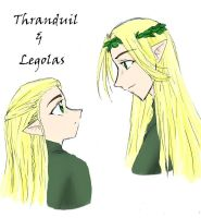 Thranduil and Legolas  colored by fatal-rob0t