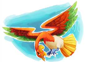 AT- Ho-oh by Varied-Artist