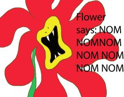 Nom the Flower by Eclipsed05