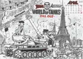 World Of Tank 2nd Anniversary Wallpaper Contest by Xandier59