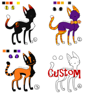 Halloween Adopts -1 left- by Poppyshadow