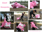 Giant Slowpoke plush by Fox7XD
