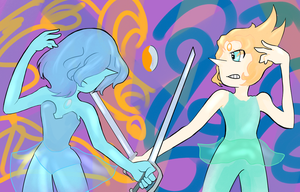 Blue Pearl vs Our Pearl by MSMoura