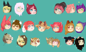 Chibi Collab .:Almost Done!:. by Pieology