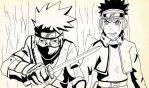 Kakashi and Obito WIP by SpencerPenfold