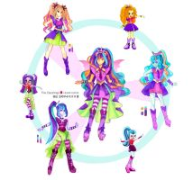 The Dazzlings X Hexafusion by s0901