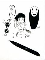 Spirited Away doodle by 11yle