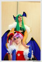 Morrigan and Lilith Cosplay by Alyciane