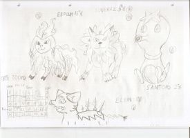 Doodles of our pokedex by Zapdosblitz