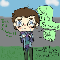 Su mmer Bummer by spidersarecoming