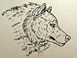 Wolf Head Ink by VorpalBeasta