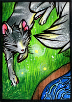 ACEO :: Fireflies by Routani