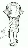Little Neko Girl by XKhFan4EverX