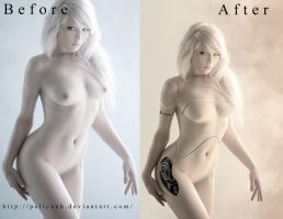 before-after Miss Mosh gynoid by Rafido