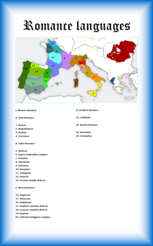 Romance languages - 2015 by Artaxes2