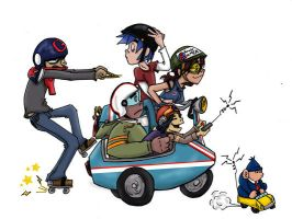 Gorillaz pic without BG by madamenanas