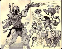 Boba and doodles by RyanJampole