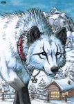 ACEO for WhiteSpiritWolf by Dragarta
