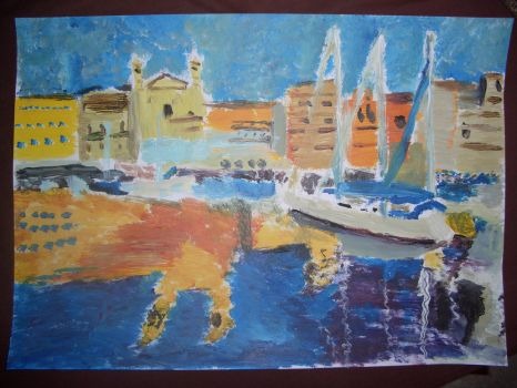 Port Corse v881 (Acrylique) by lv888