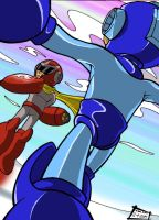 Protoman and Megaman Colored by RadiantRagnarok