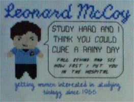 Dr McCoy Motivational X-Stitch by black-lupin