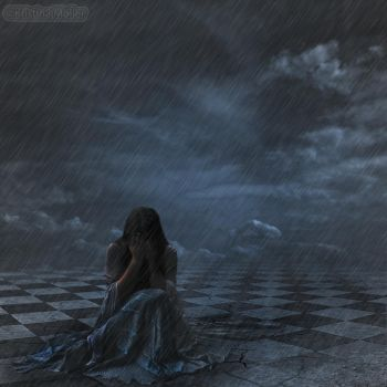 Girl in the rain... by MagicalPictureMaker