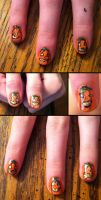 Jack o' Lantern nails by elvaniel