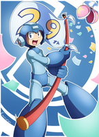 Megaman 29th Anniversary! by Emiridian
