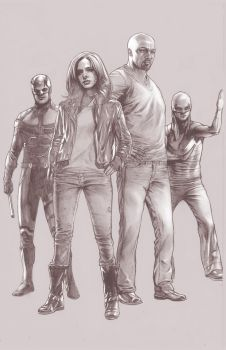 the Defenders Netflix Version Pencils by benttibisson