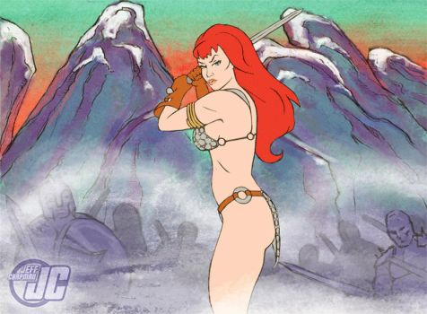 Red Sonja Animated by Jeffach