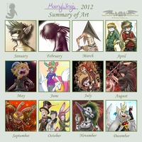 ~Summary of Art 2012~ by MoonyWings