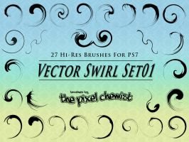 Brushes - Vector Swirl Set01 by pixelchemist