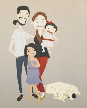 Art Request - Kaye and Family by CoffeeGoblet