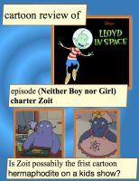 rough draft cartoon reviews  of   Lloyd in Space. by dabbycats