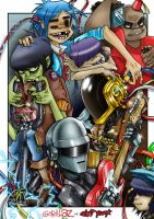 Gorillaz ft. Daft Punk by Asten-94