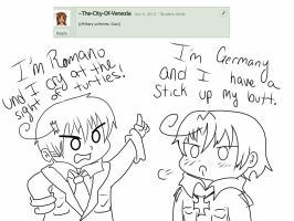 Fashion week: Romano and Germany 2 by Ask-Lil-Bro-Trio
