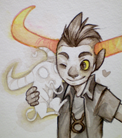 Watercolorstuck Tavros by dragonrise