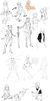 sketch doodle dump by HJeojeo