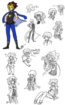 Surprise YGO sketches by Squidbiscuit