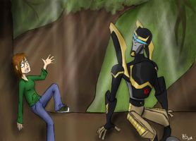 Tree Talk - Nichole and Prowl by Kira-Karix-chan