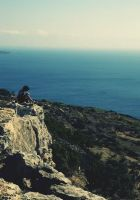 Me on the cliffs by Drugi